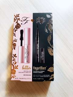 Too Faced Better Than Sex Mini Mascara Kat Von D Mini Waterproof Liquid Eyeliner Set