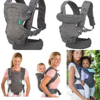 Infantino Flip Advanced 4-in-1 Convertible Carrier - Light Grey