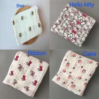 [READYSTOCK MALAYSIA] Newborn baby muslin swaddle bedung blanket kain napkin towel