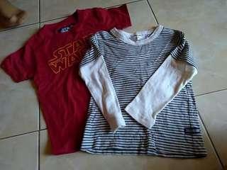 Oshkosg shirt & Star Wars shirt
