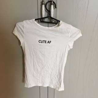 H&M 字母上衣