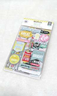PinkPaislee 3D Scrapbooking Stickers/Labels ♥ relationship
