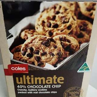 COLES ULTIMATE CHOCOLATE CHIP COOKIES