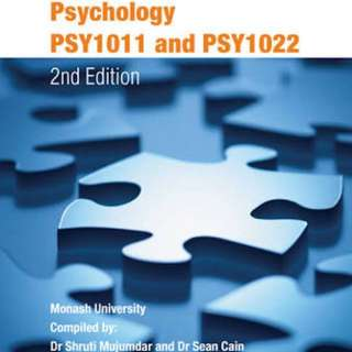 PSY1011 & PSY1022 CUSTOM EDITION TEXTBOOK