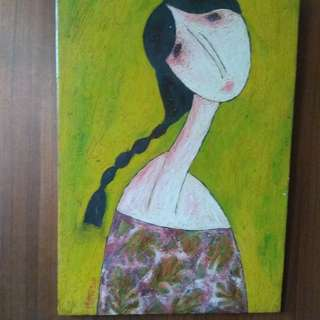 Vietnam Artist Hong Thanh Vinh Phong painting on the wood