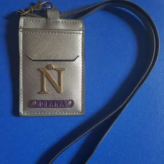 Card/Pass lanyard with N initials and Diana