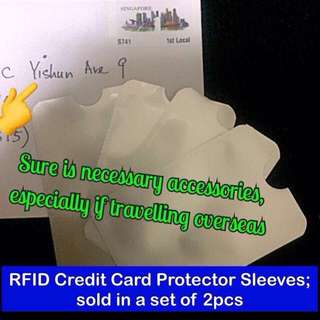 Credit card protector / protection sleeve (RFID anti-scan [anti-theft]) [aluminium gifts presents uncle.anthony uncle anthony uac ] FOR MORE PICS & DETAILS, GO HERE: 👉 http://carousell.com/p/130062042