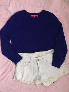 Sweatshirt & F21 Shorts