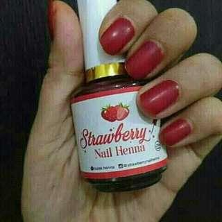 Nail henna stawberry