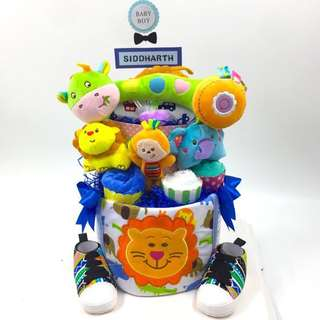 Large 2-tier Diapers Cake
