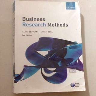 Business Research Methods 3rd Edition by Alan Bryman & Emma Bell