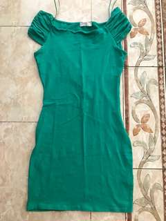 dress bodycon green