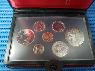 1980 Canada Coin Set ( Lot of 6 Coins )