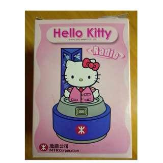 2002年_FM 收音機_hello kitty -- 絕版 MTR 地鐵公司 紀念品 全新