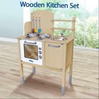Friso wooden toy play kitchen set ( brand new in box)