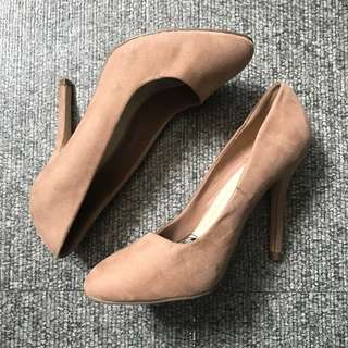 Forever21 Taupe Heels