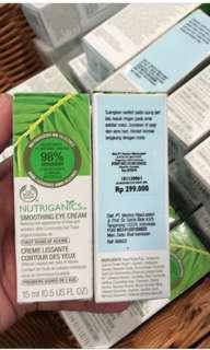Body shop nutriganics eye cream