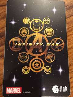 Limited Edition brand new Marvel Avengers Infinity War Ezlink card for $13.90.