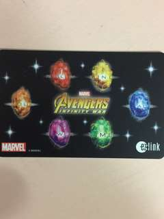 Limited Edition brand new Marvel Avengers Infinity War 6 Gemstones Ezlink card for $13.90.