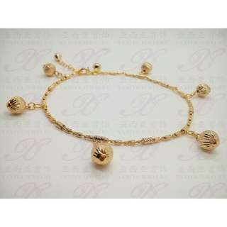 💖Gelang Kaki Rantai Lapis 18k gold import 💖