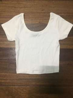 Mango White Crop Top