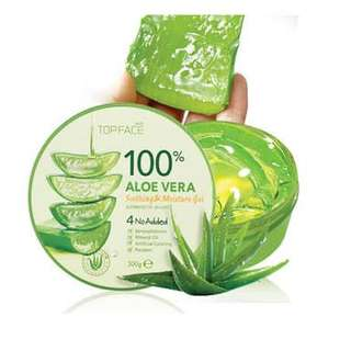 Top face 100% Aloe Vera Shooting Gel