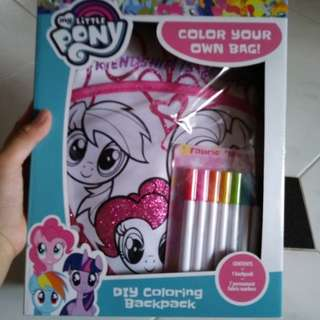 My little pony DIY coloring bag
