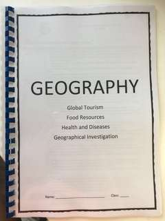 Geography Human Geog notes