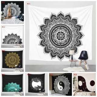 Mandala Tapestry Tumblr Decor Wall Bed spread table beach