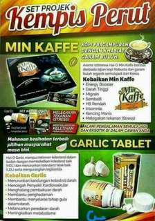 Set min kaffe & garlic tablet