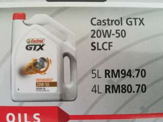 CASTROL ENGINE OIL 20w50 4L