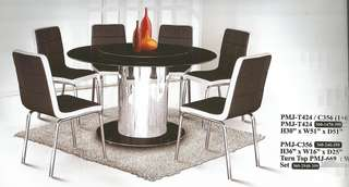 DINING TABLE SET CHAIR 1+6 - T424 /C356