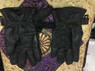 Pure leather Winter gloves