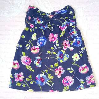"""""""Abercrombie&Fitch"""" Floral Tube Top"""