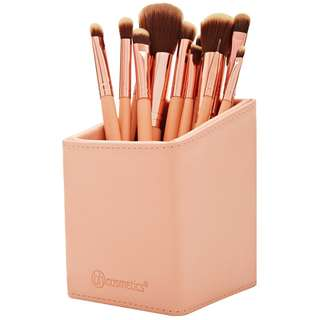 BH Chic - 15 Piece Makeup Brush Set with angle pencil case