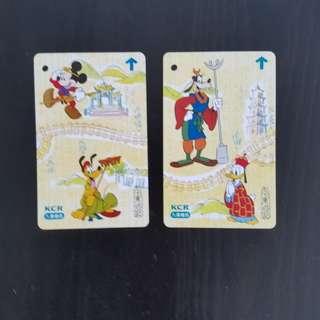 迪士尼卡通紀念車票2張