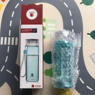 🚚 全新💦耐熱玻璃隨身瓶260ml(水藍色)
