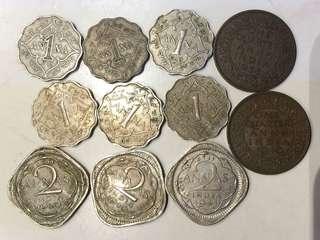 1907-41 英屬印度錢幣 India 12個