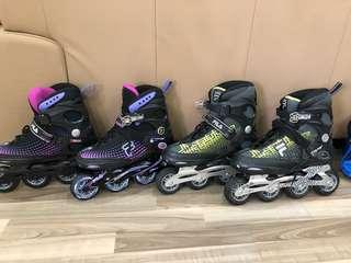 Roller skates & gears