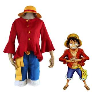 [FREE DELIVERY] Anime One Piece Monkey D Luffy Costume
