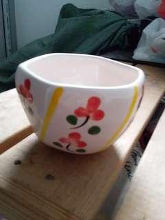Ceramic Flower Pot (Red)