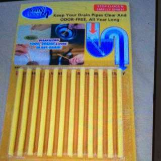 3 packs sani sticks sewer cleaning rod drain cleaner and for Unscented bathroom deodorizer