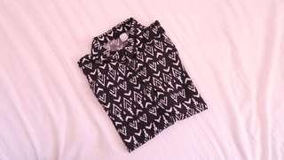 Aztec Pattern Cropped Shirt