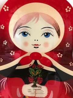 [清櫃] 購自 比利時🇧🇪 全新❗️俄羅斯娃娃 玻璃碟❣️超可愛😍 {尺寸約:17cm x 26cm } 值得珍藏喔🙇🏻♀️