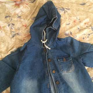 Denim Hoodie Jacket Dress