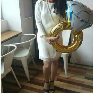 Preloved MASSIMODUTTI white dress 100 Authentic