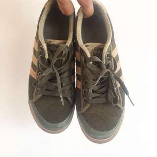 Men's auth adidas olive green