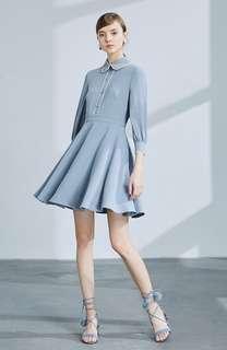 Isabufei Blue Skater Dress
