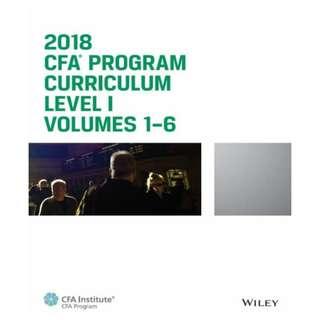 CFA Program Curriculum 2018 Level I Volumes 1-6 Box Set eBook
