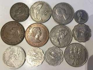 早期 英屬 錢幣 12個